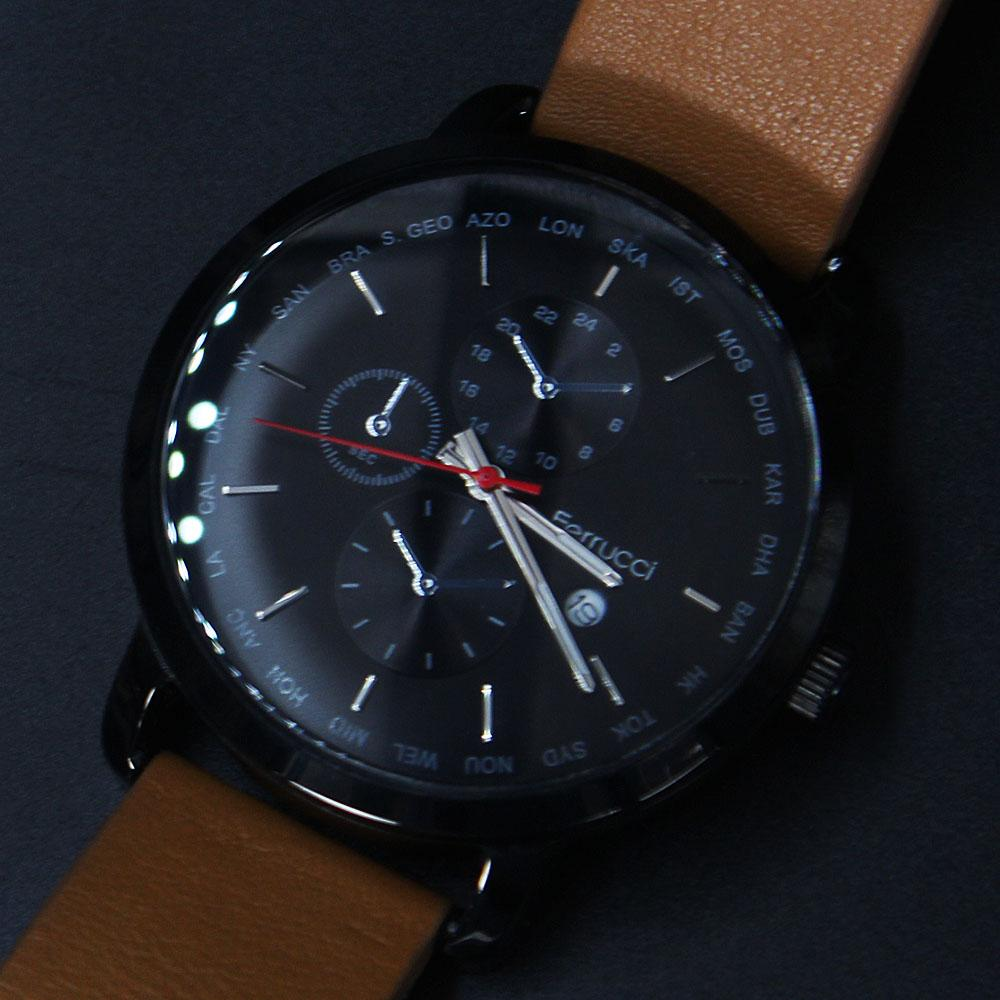 Ferrucci Adora Brown Leather Watch