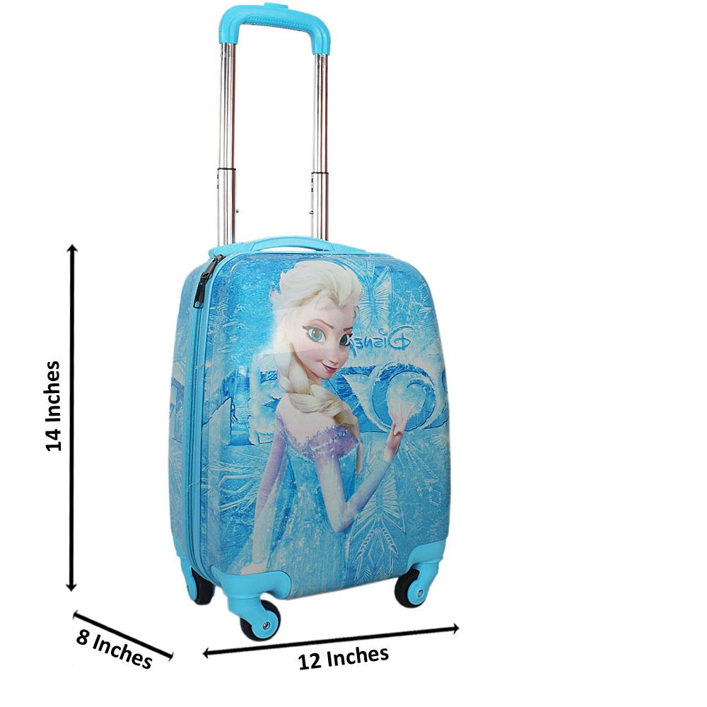 Blue Frozen Graphic14 Inch ABShell KiddiesCarry On Luggage