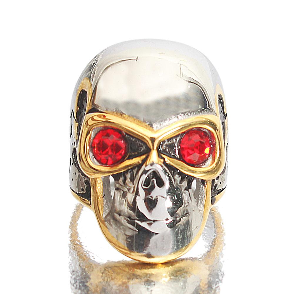 Twin-Tone Stainless Steel Terminator Ring Sz M