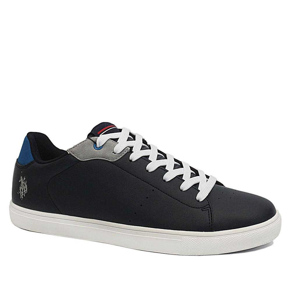 USSPA Navy Jado Leather Breathable Sneakers