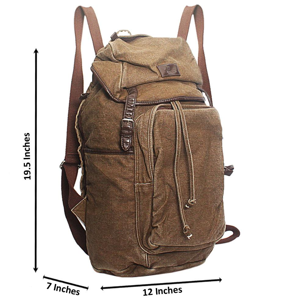 Brown Cremieux Fabric Backpack