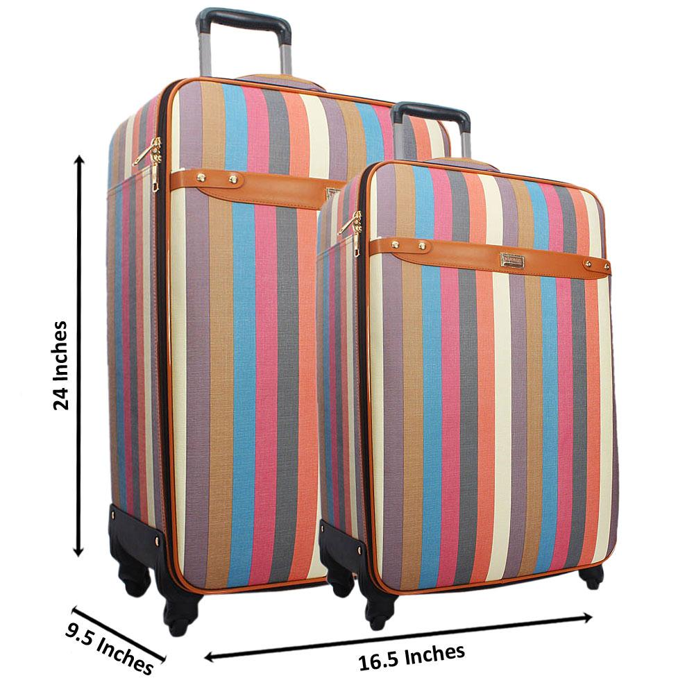 Multicolor 24 Inch Wt 20 Inch 2 in 1 Leather Luggage Set