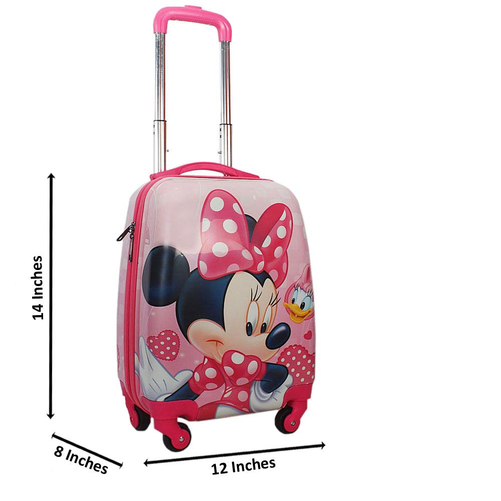 Pink Micky Mouse Graphic14 Inch ABShell KiddiesCarry On Luggage