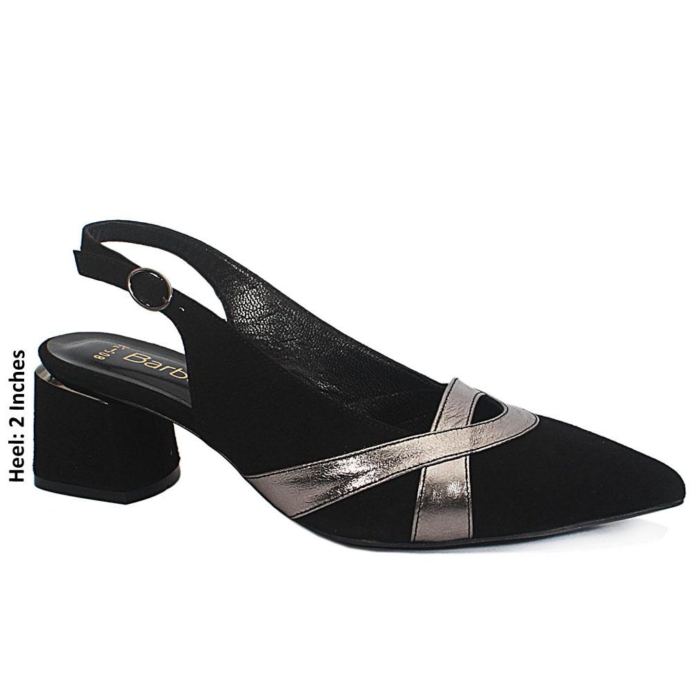 Black-Impluse-Suede-Leather-Slingback-Heel