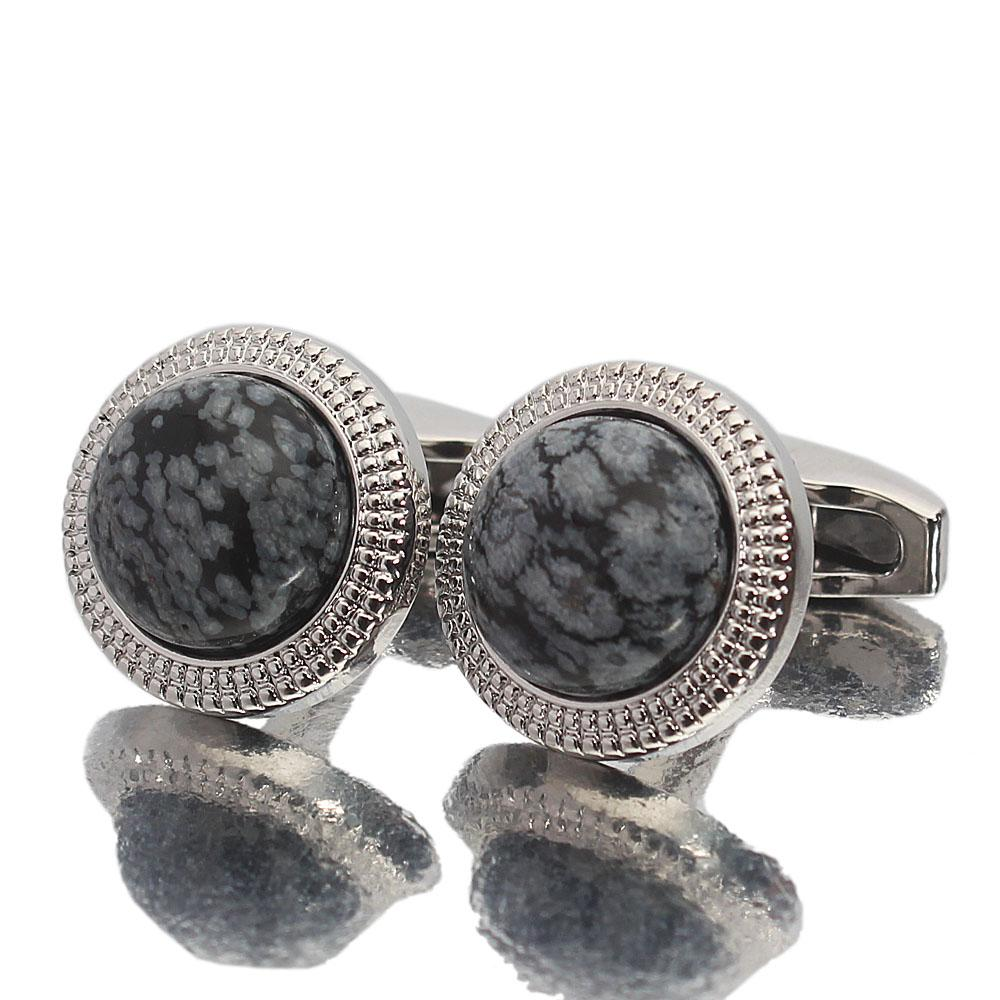 Silver Globe Pearl Stainless Steel Cufflinks