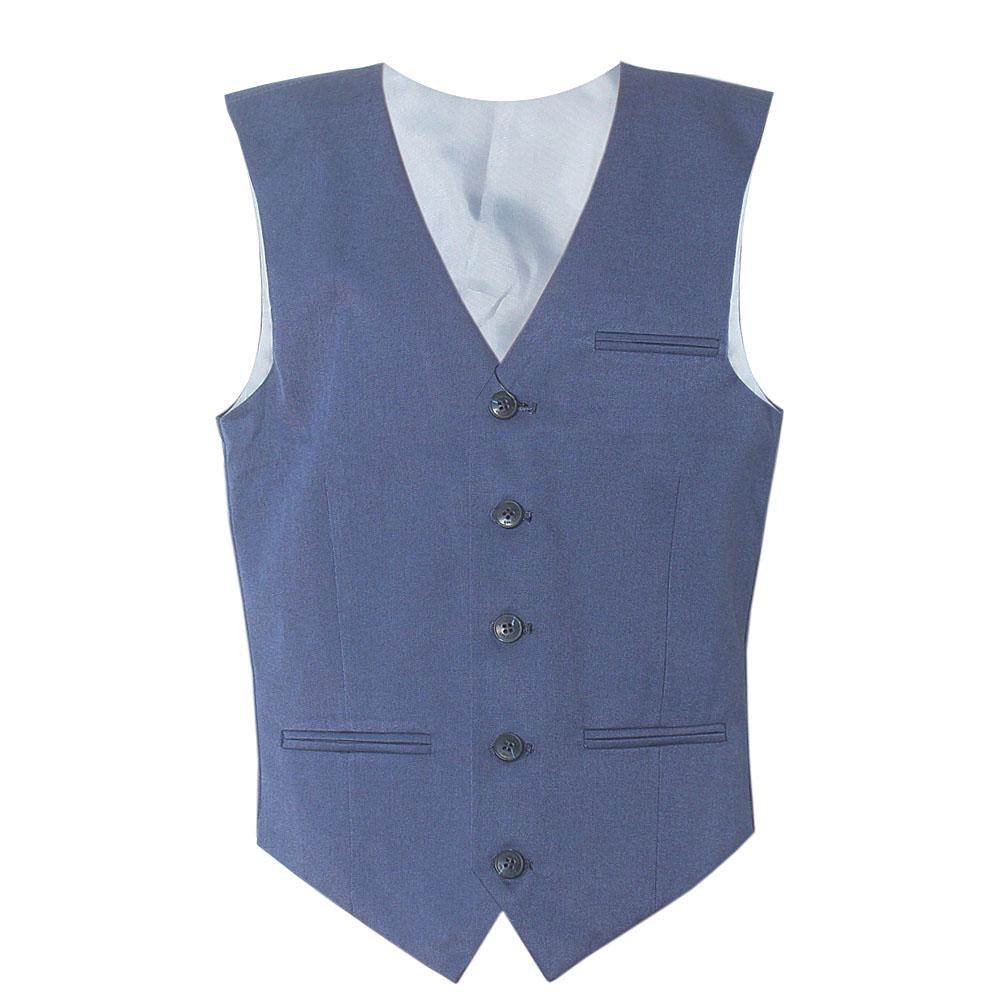 Navy Cotton Performance Boy Waistcoat 10 11 Yrs