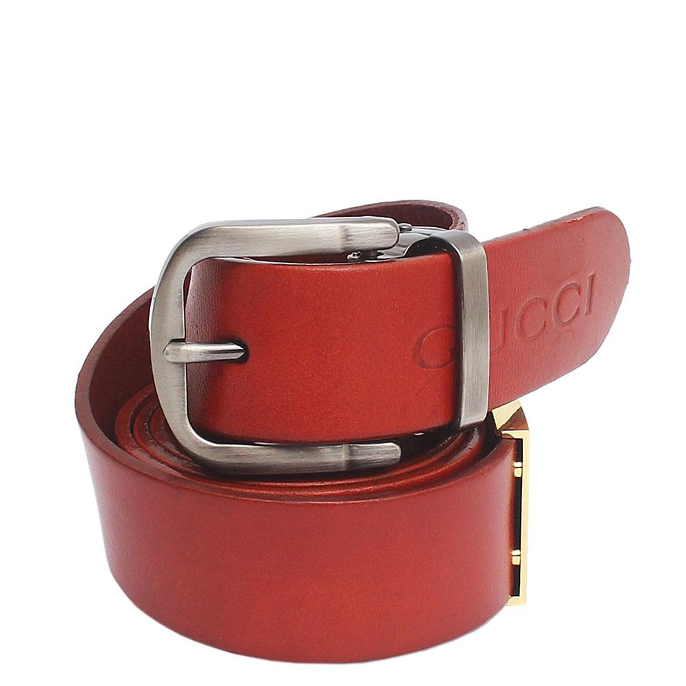 Gucci Brown Exotic Leather Men Belt L 48 Inches