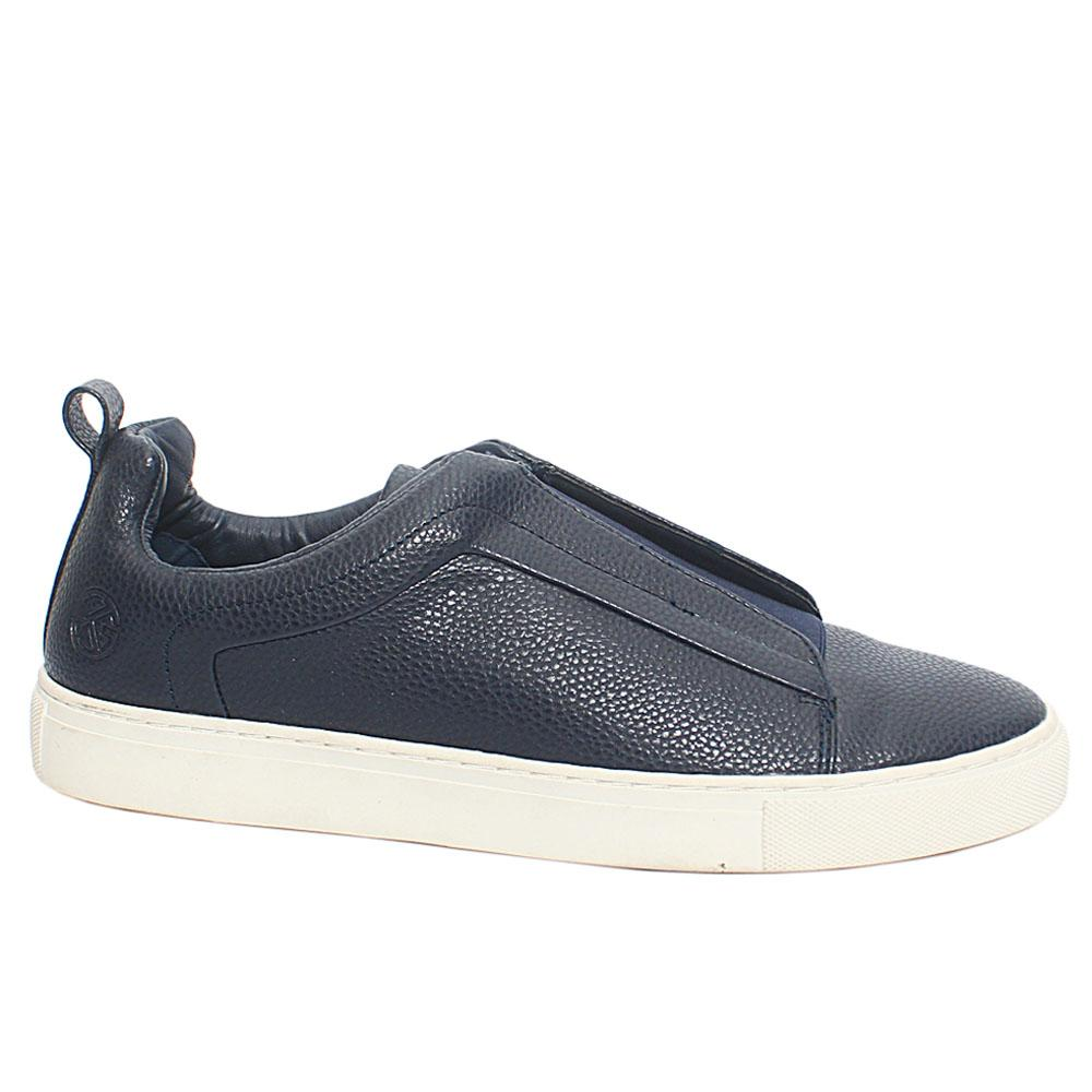 Navy Leather men Sneakers