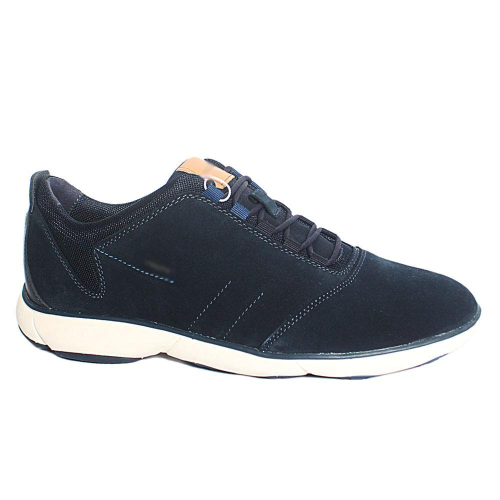 Navy Nebula Suede Leather Sneakers