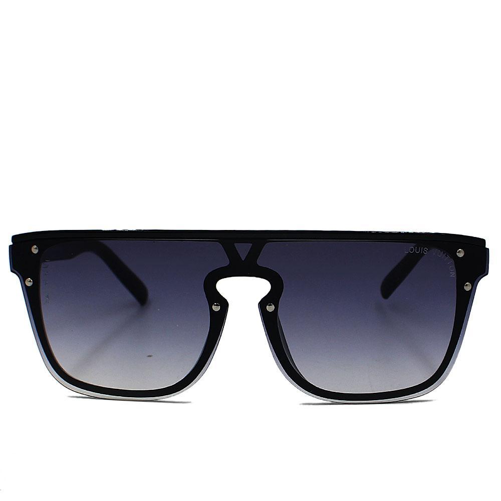 Black Woman Rimless Wayfarer Sunglasses