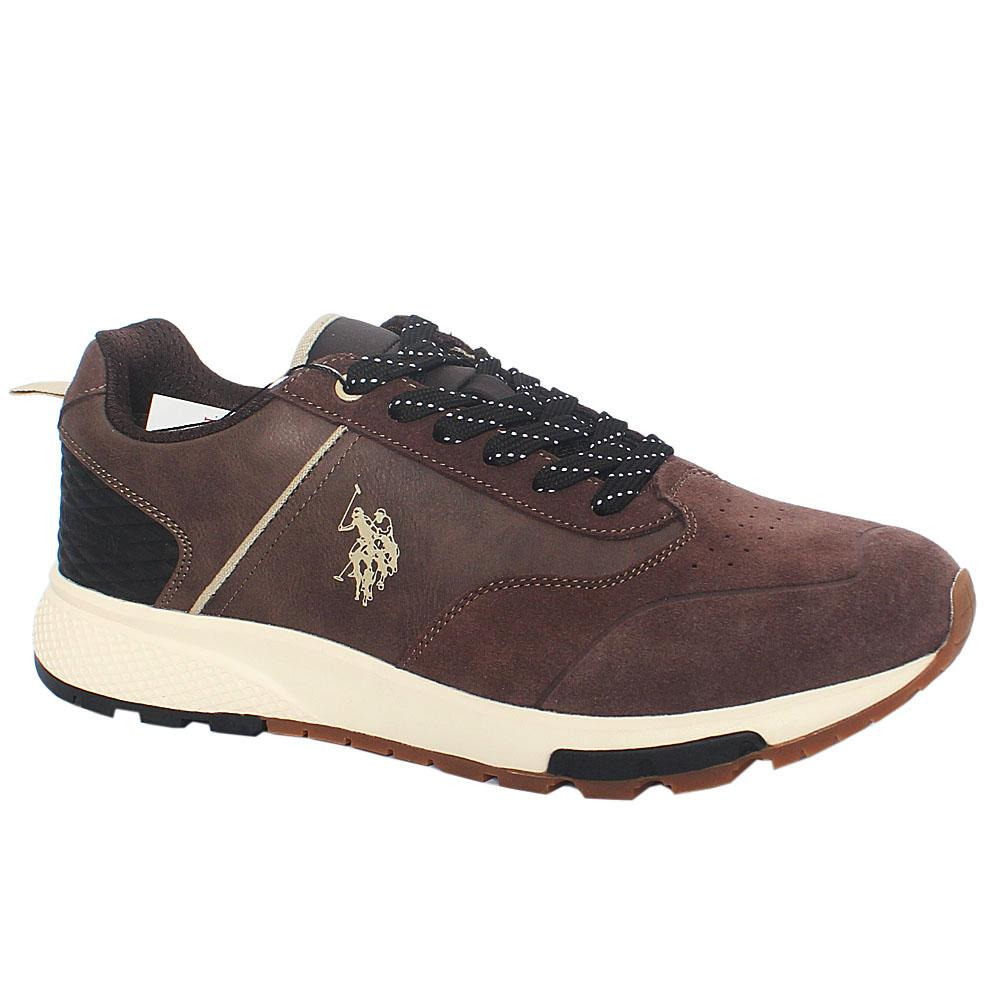 Brown Heck Suede Leather Sneakers
