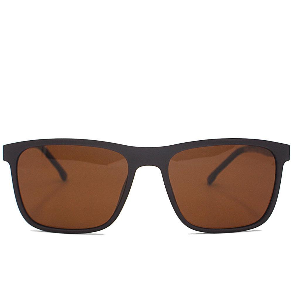 Brown Straight Face Wayfarer Sunglasses