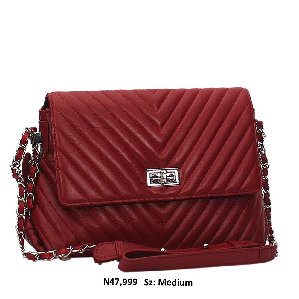 Wine Addah Leather Crossbody Handbag