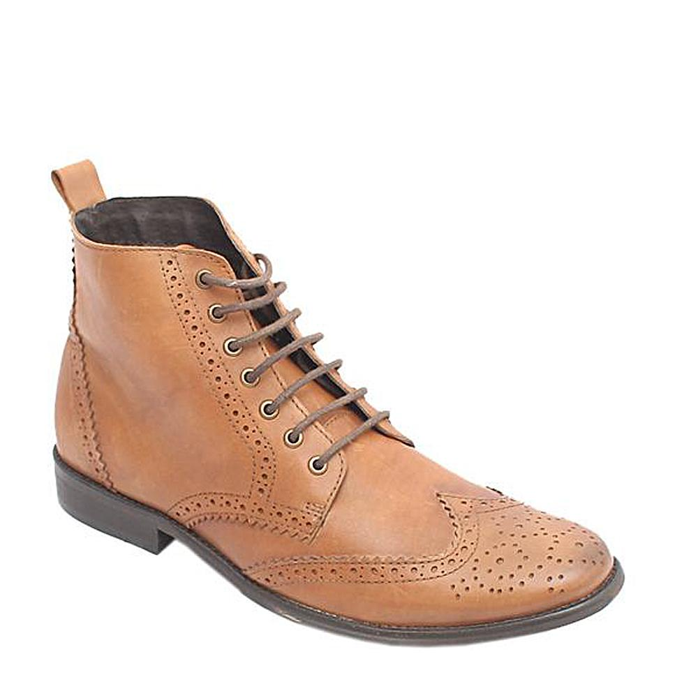 Kurt Geiger Brown Leather Mens Boot Brogues Sz 44
