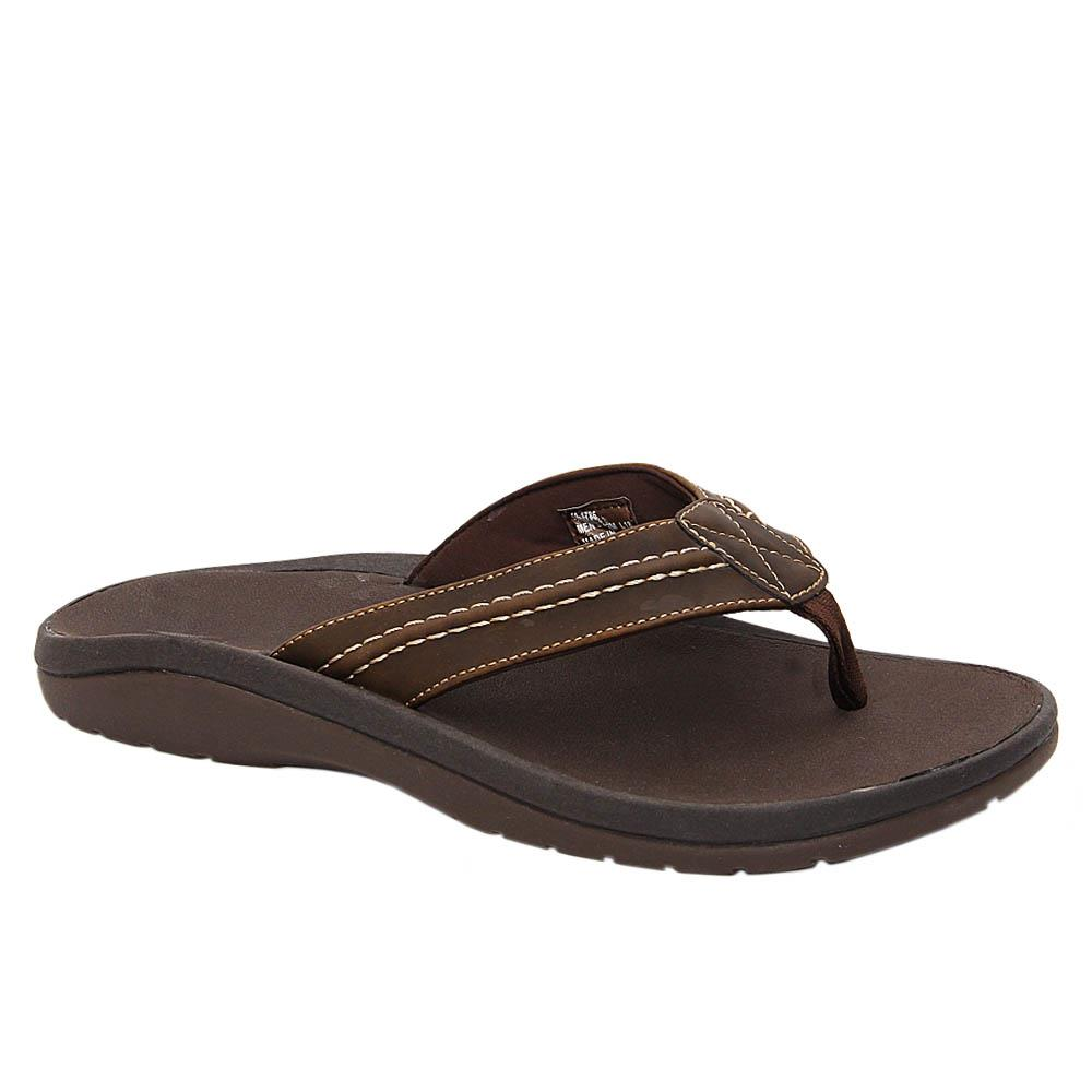 Brown Jack Harry Leather Comfort Slippers