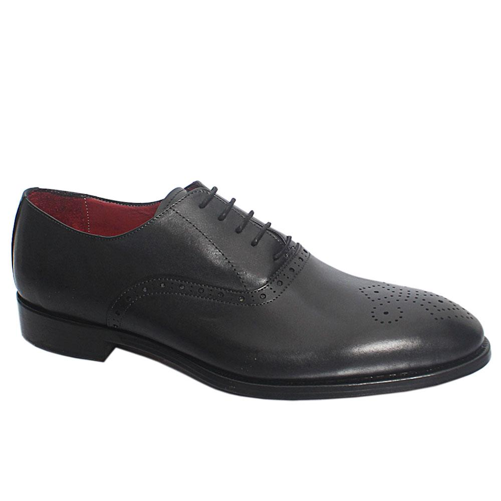 Black Morte Italian Leather Oxford Shoes