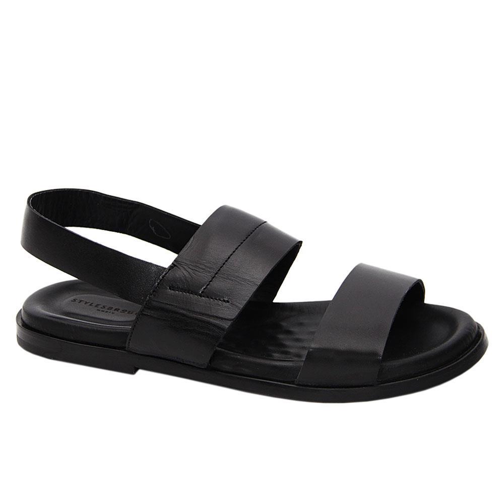 Black Sancho Italian Leather Sandals