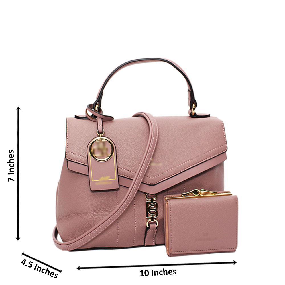 Lilac Vallea Leather Small Top Handle Handbag