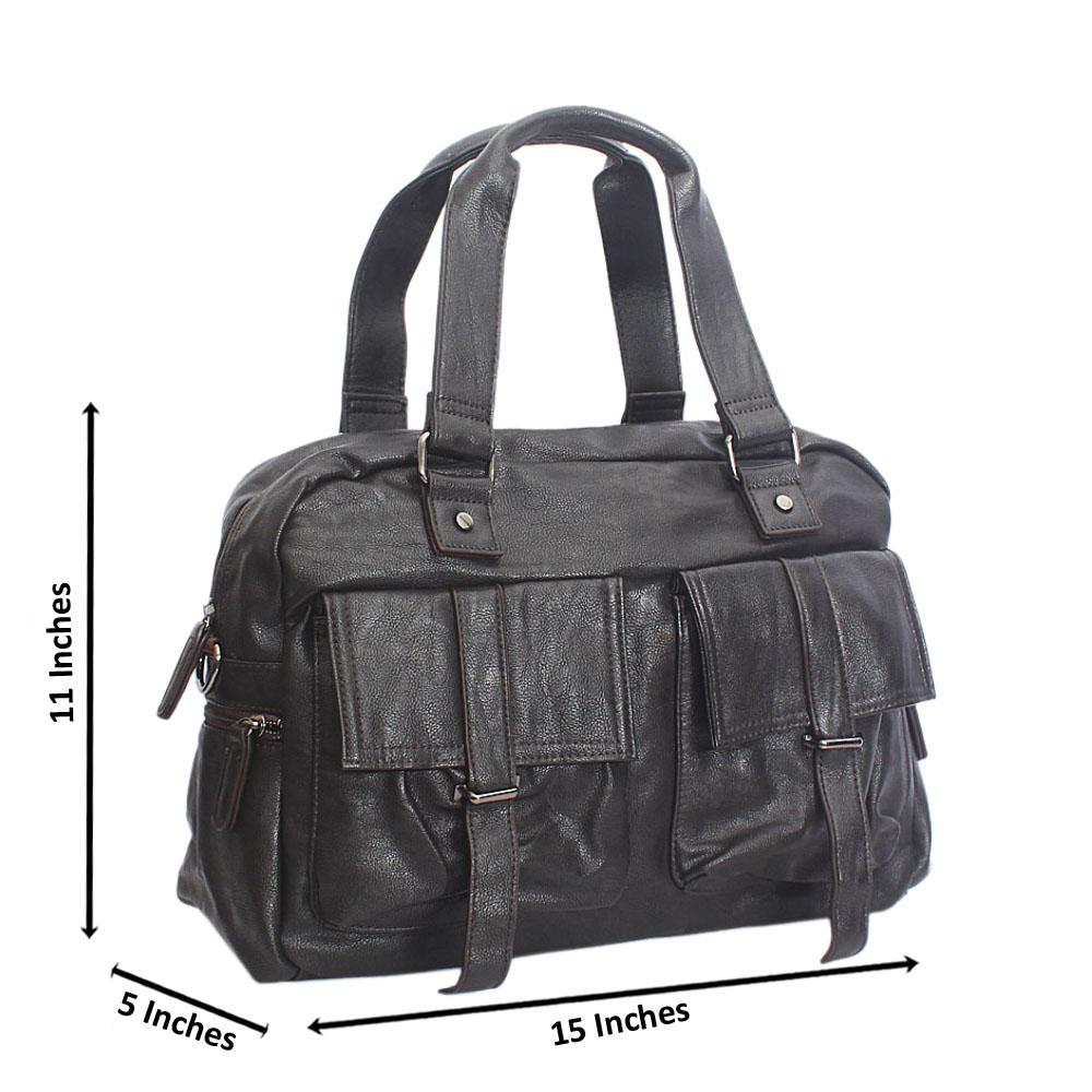 Amigo Coffee Double Pocket Cassania Leather Man Bag
