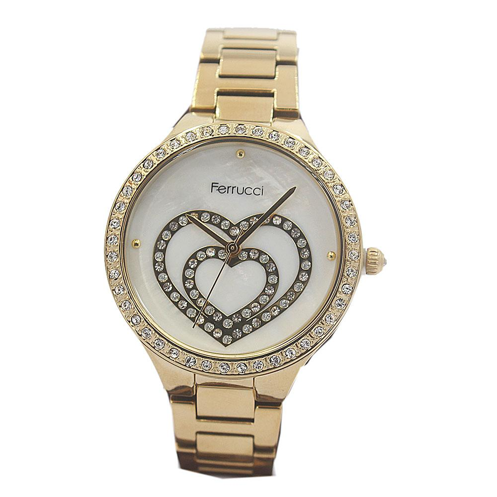 Love Studded Gold Vintage Ladies Watch