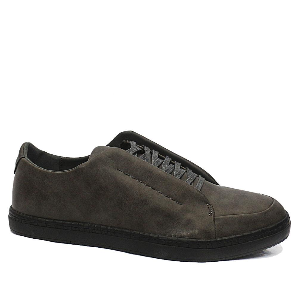 DDM Gray Stuart Leather Sneakers