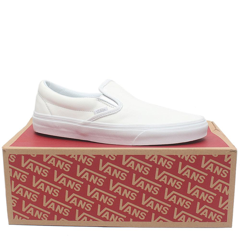 Vans White Leather Sneakers Sz 42.5