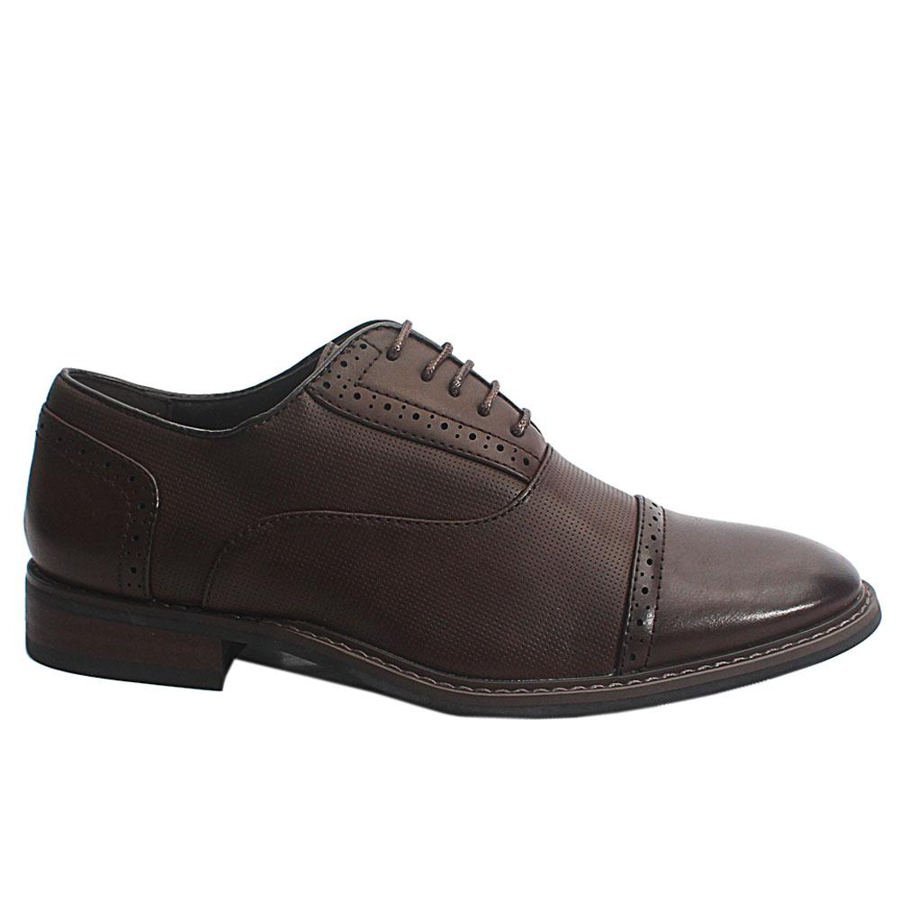 Brown Drake Leather Men Oxford Shoes
