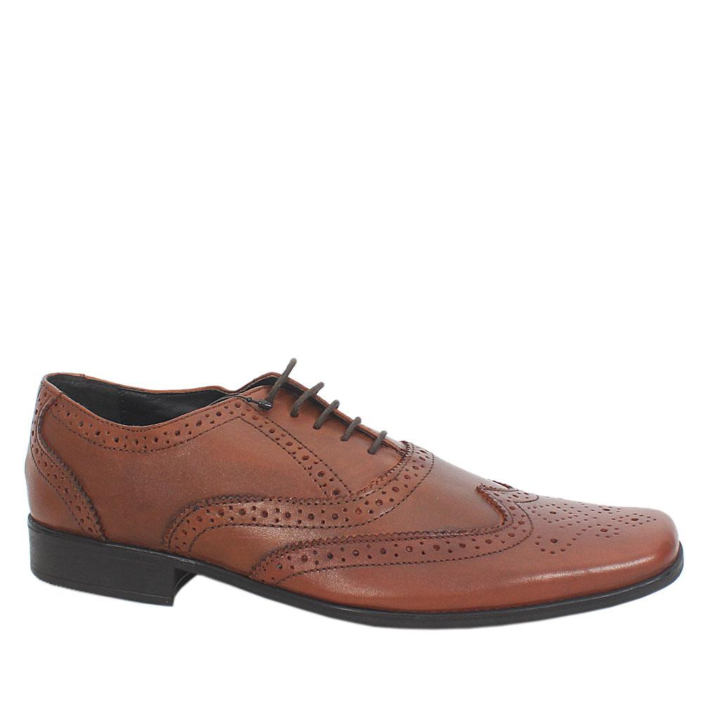 Sz 42 M & S Collection Brown Lace-Up Leather Men Shoe