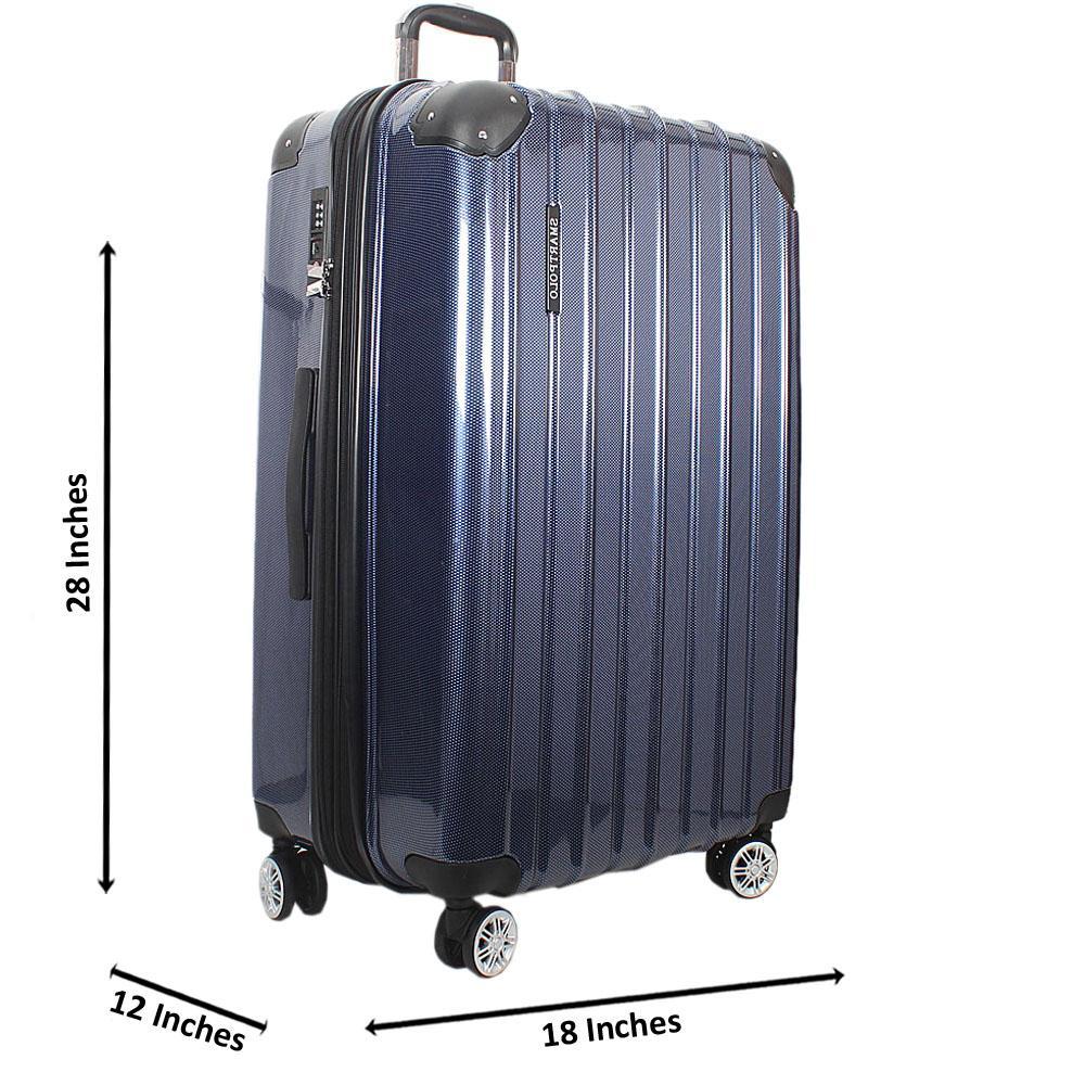 Blue 28 Inch Hardshell Large Suitcase Wt TSA Lock