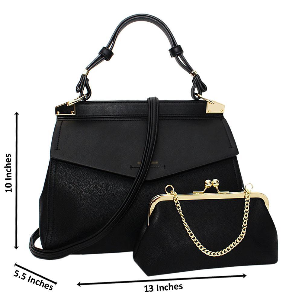 Black-Melissa-Leather-Medium-Top-Strap-Handbag
