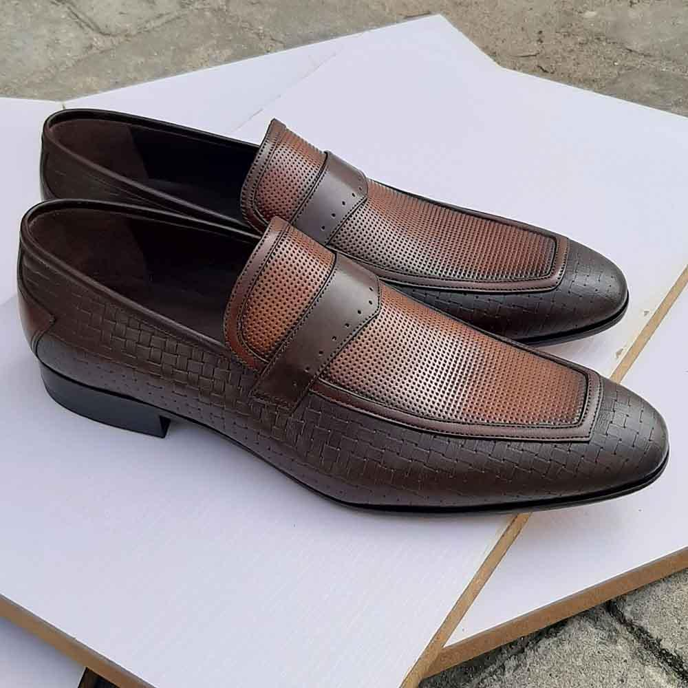 Coffee Antonio Italian Leather Men Loafers