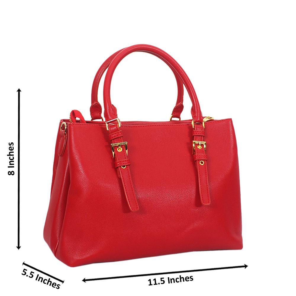 Gillian Red Smooth Montana Leather Tote Handbag