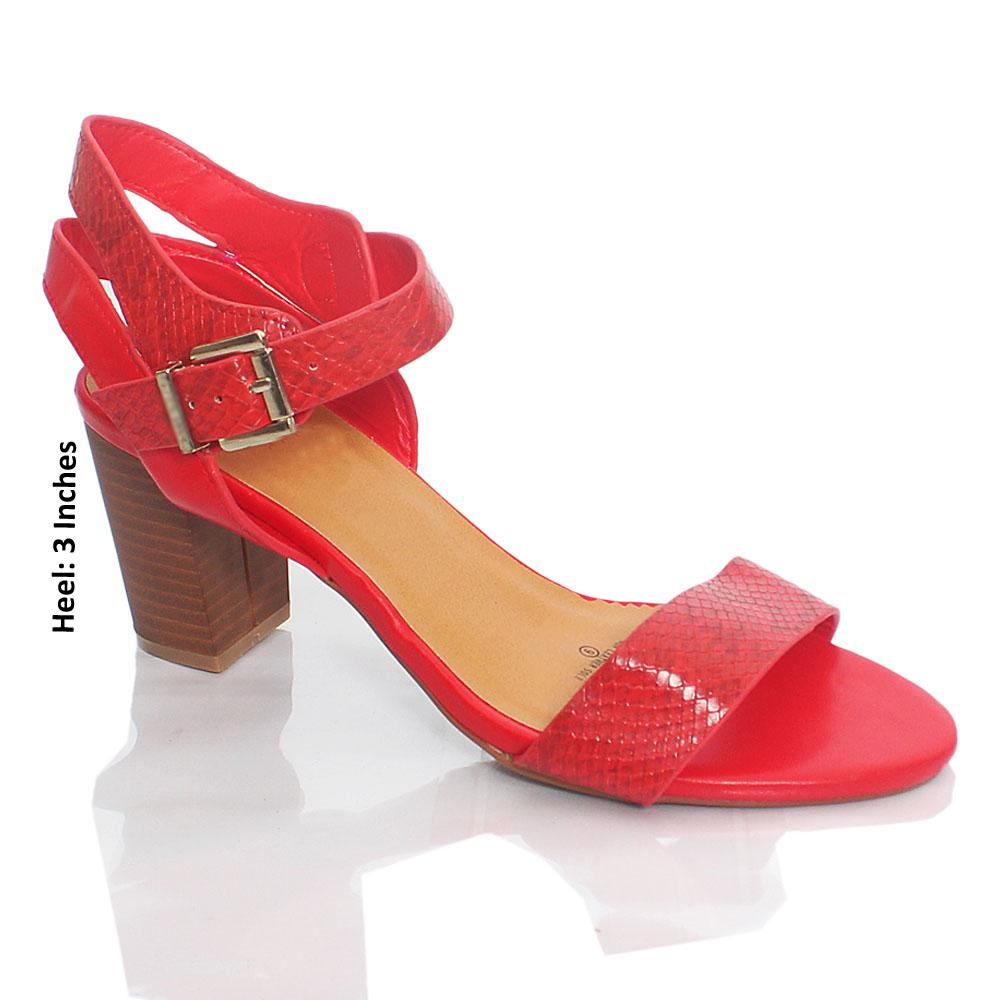Red KC Jane Snake Skin Leather Heel