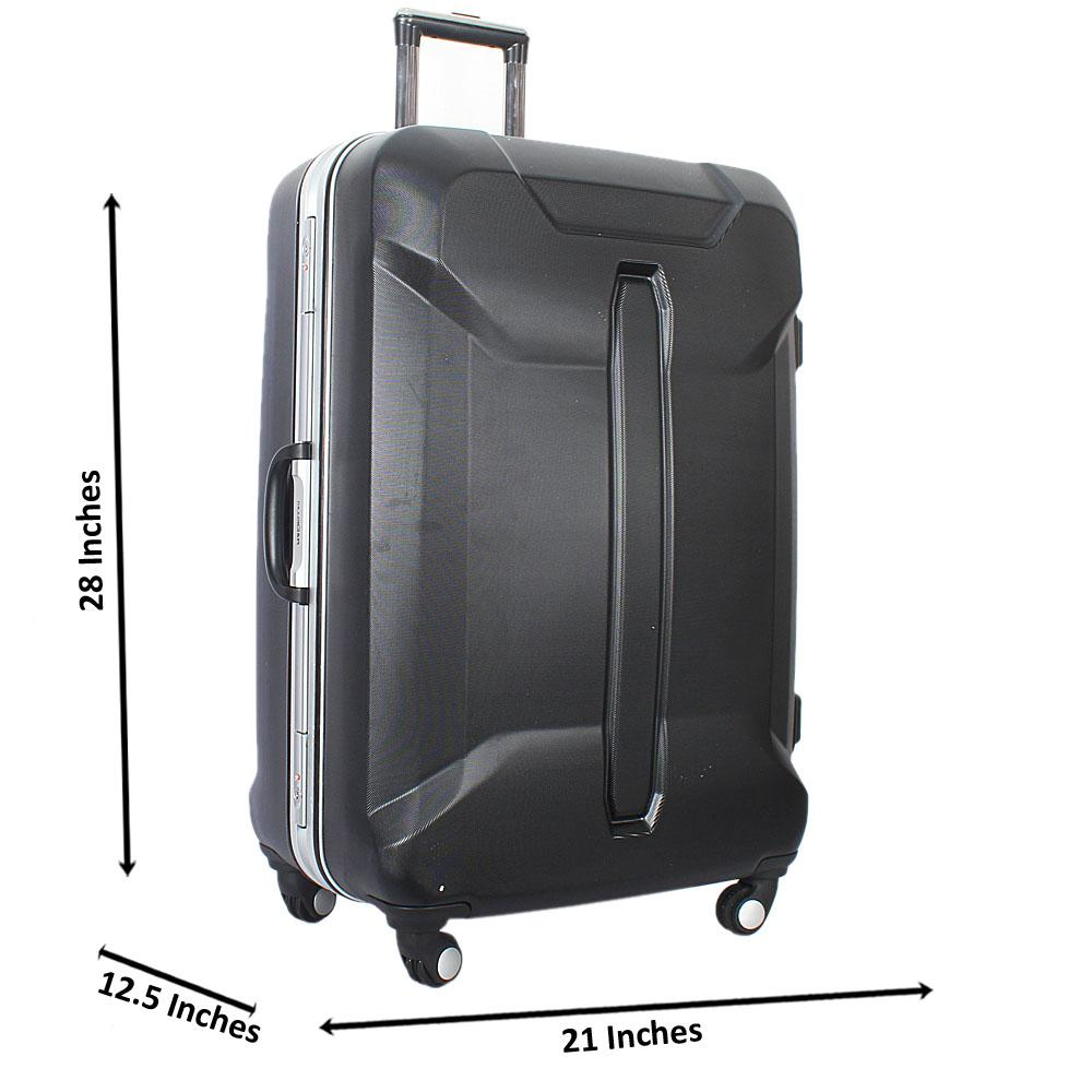 Black 28 Inch Hardshell Suitcase Wt TSA Lock