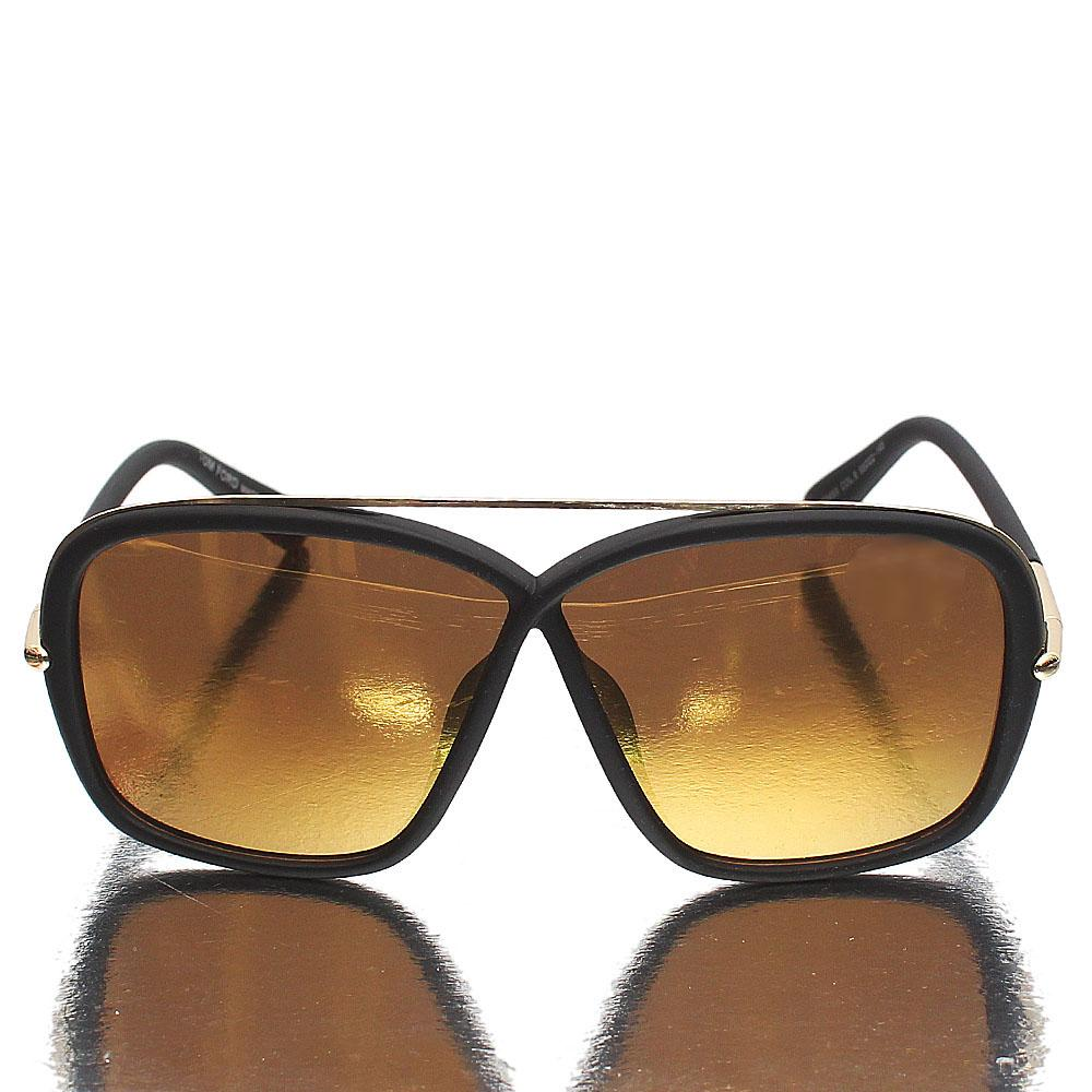 Gold Black Shield Gold Polarized Lens Sunglasses
