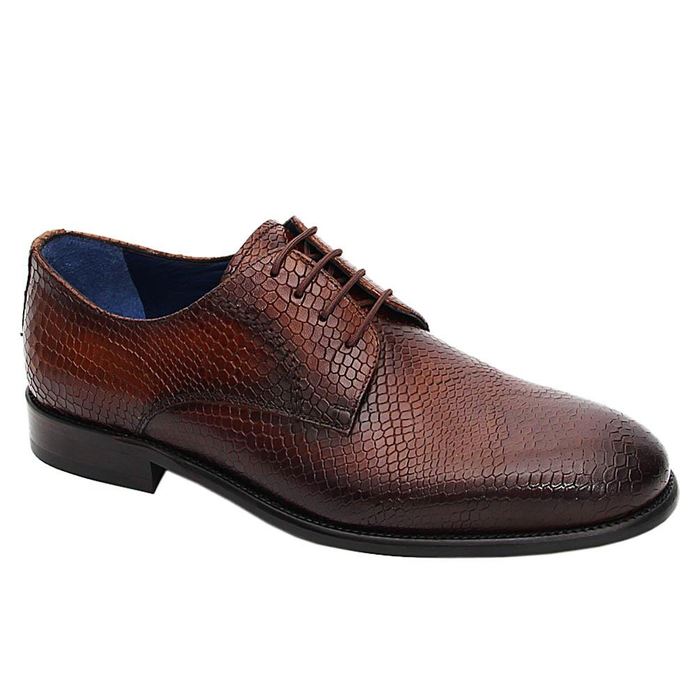 Coffee Gustavo Italian Leather Derby Shoe