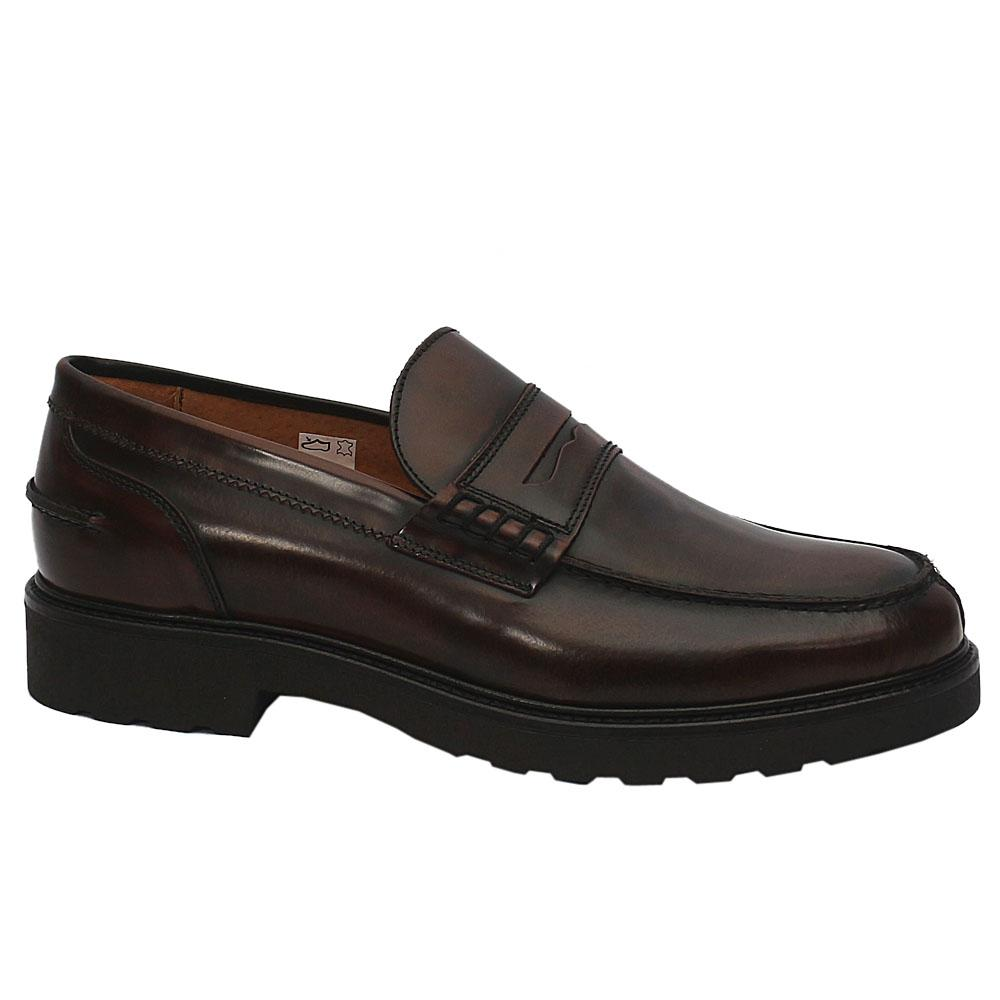 MII Blackish Brown Stefano Leather Shoe