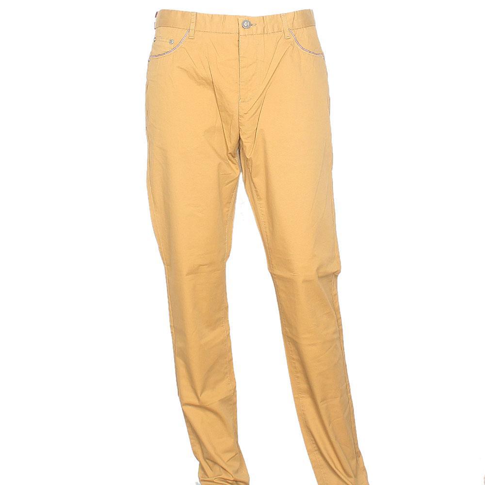 Bally Yellowish Brown Straight Leg Men Chinos