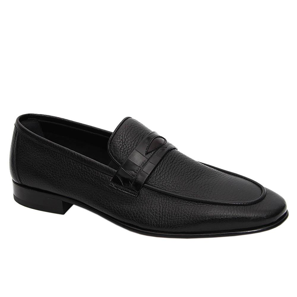 Black Simone Soft Italian Leather Loafers
