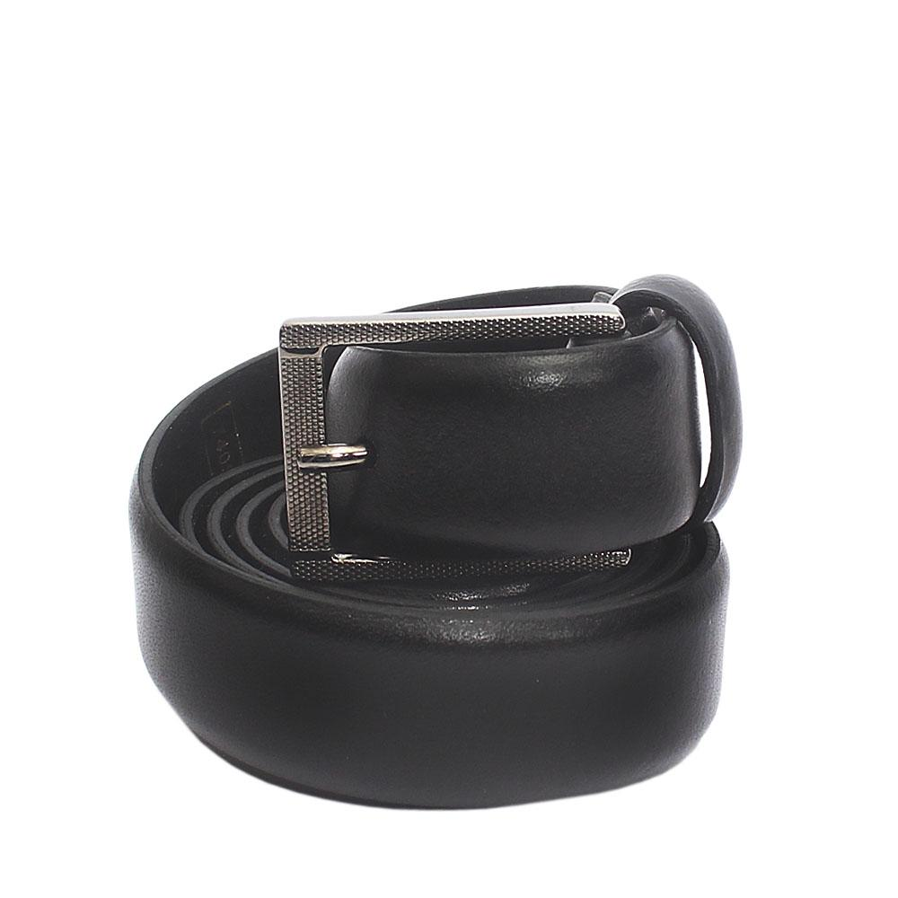 Black Luxury Leather Belt L 40 Inches