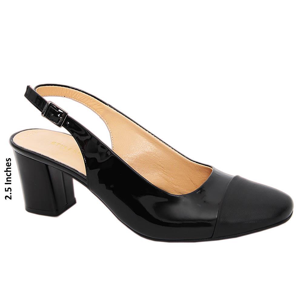 Black-Isabel-Tuscany-Patent-Leather-Mid-Heel-Slingback-Pump