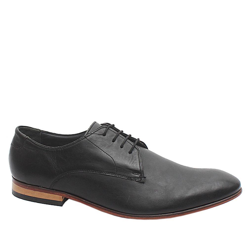 Collezione Black Leather Men Formal Shoe Sz 42.5
