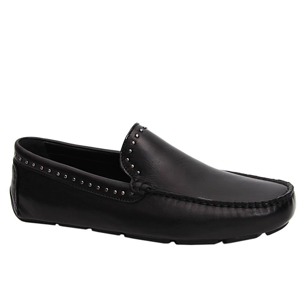 Black Marcus Italian Leather Drivers Shoe