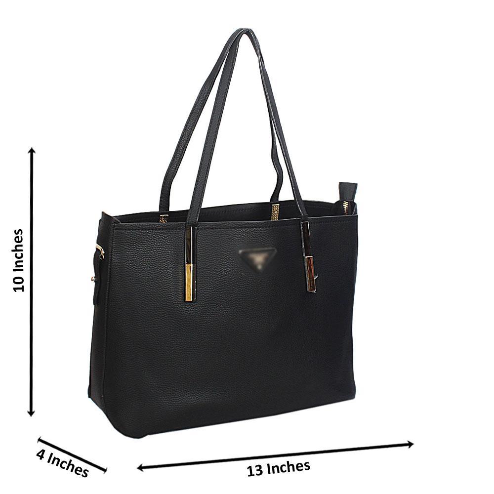Black Mariella Leather Long Strap Shoulder Handbag