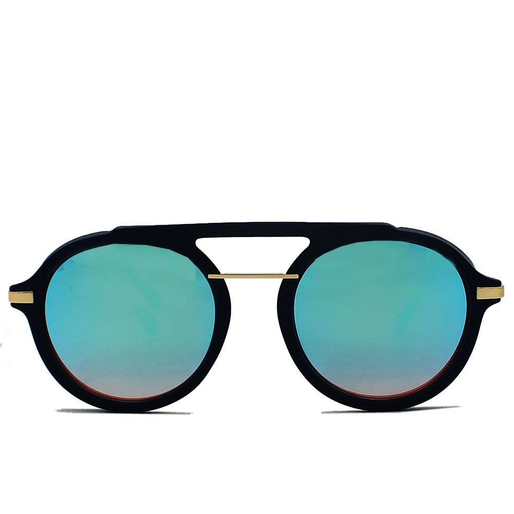 Blue Round FPolarized Aviator Sunglasses