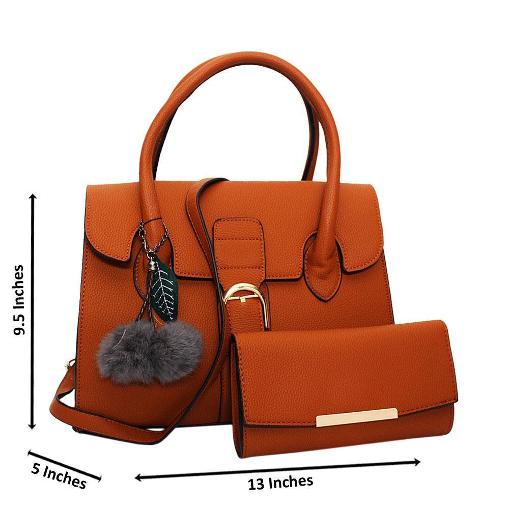Brown Natalia Leather Medium Tote Handbag