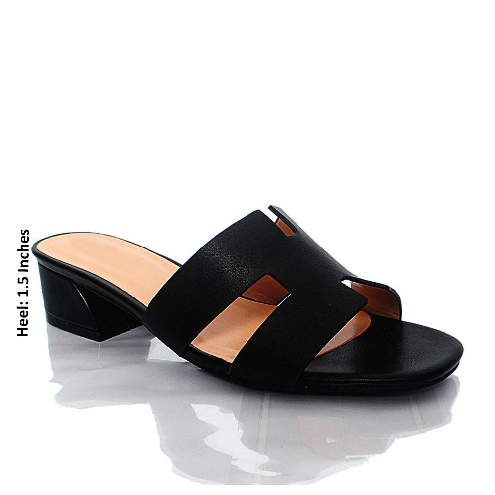 Black LL Sofia Leather Mule