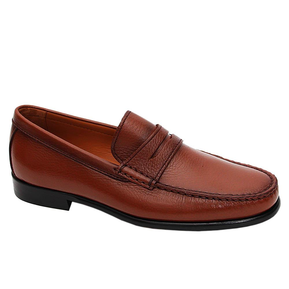 Brown Kaiser Italian Leather Penny Loafers