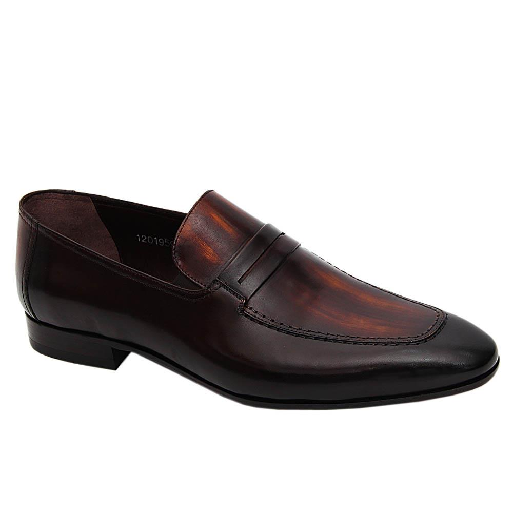 Coffee Don Martino Italian Leather Loafers