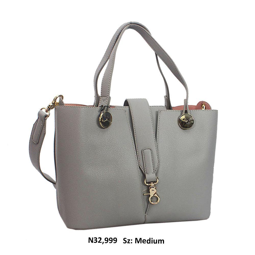 Silver Irene Leather Tote Handbag